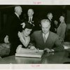 Ohio - Bricker, John W. (Governor) - Signing guestbook with wife