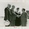 Ohio - Bricker, John W. (Governor) - With wife, shaking Fiorello LaGuardia's hand