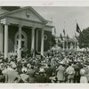 Ohio - Bricker, John W. (Governor) - Speaking at dedication in front of building