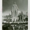 Opening Day - 1939 Season - Statue of George Washington and crowd