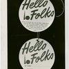 "Opening Day - 1940 Season - """"Hello Folks"""" labels"