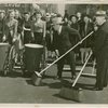 Parades - Street Cleaning - Fiorello LaGuardia, Harvey Gibson and others sweeping Broadway