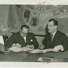 Peru Participation - Pardo de Zela (Consul General) and Grover Whalen sign contract