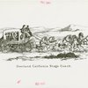 Pony Express Exhibit - Drawing of Overland California Stage Coach