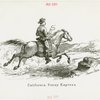 Pony Express Exhibit - Drawing of California Poney Express