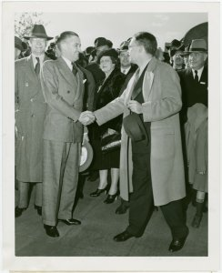 Press Events - Associated Press - Leo Casey shaking hands with editor