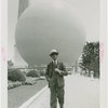Press Events - National Press Club - Man walking in front of Perisphere