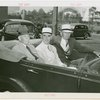 Puerto Rico Participation - Blanton Winship (Governor General), Major General Dennis E. Nolan and Admiral William D. Leahy in car