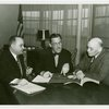 Puerto Rico Participation - Grover Whalen, Jose Gonzales and General Dennis Nolan signing contracts