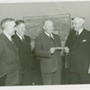 Queens, Borough of - Harvey Gibson receiving check for Queensborough Host House rent