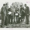 Radio Corporation of America (RCA) - William Winterbottom and group with teletype at groundbreaking for RCA exhibit