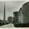 Radio Corporation of America (RCA) - Building - Exterior with Trylon and Perisphere in background