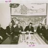 Railroads on Parade - Grover Whalen, J.M. Davis (President of the Delaware, Lackawanna, and Western Railroad and Chairman of World's Fair Committee of Eastern President's Conference) and officials signing contract