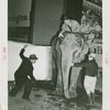 Remington Rand Exhibit - Frank Buck and Lou Lehr shaving elephant with giant Remington Rand shaver