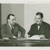 Restaurants - Grover Whalen and man signing contracts