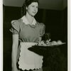 Restaurants - Childs - Childs waitress holding tray with food on it