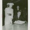 Rhode Island Participation - Governor and Mrs. Vanderbilt signing book
