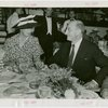 Roosevelt (Franklin Delano and family) - Eleanor Roosevelt and Henry Morganthau Jr. (Secretary of Treasury) at dinner