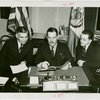 Russia (USSR) Participation - Signing contract with A. A. Troyanovsky (Russian Ambassador to the United States), Constantine A. Oumansky (Counselor of the Russian Embassy at Washington) and Grover Whalen