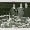 Russia (USSR) Participation - Vasilly Bourgman (Acting Commissioner from the USSR) inspecting model