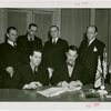 Russia (USSR) Participation - Grover Whalen and officials signing contracts