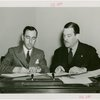 Southern Rhodesia official and Grover Whalen signing contract