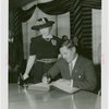South Carolina Day - Governor Burnet Maybank signing guestbook