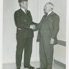 Special Days - American Legion Day - Member and Harvey Gibson shaking hands