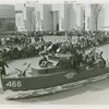 Special Days - American Legion Day - Float in shape of battleship in parade