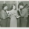 Special Days - Hot Dog Day - Women and two soldiers with hot dogs