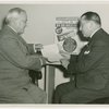 Special Days - I Am An American Day - Harvey Gibson and Basil O'Connor looking over plans