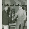 Special Days - Journal American Day - James Mullen receiving trophy from C.F. Chapman