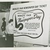 Special Days - Newspaper Day - Man painting advertisement