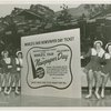 Special Days - Newspaper Day - Women on ice-skates with advertisement
