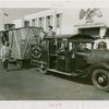 Special Days - Suffolk County Day - Men in fire truck pulling wagon