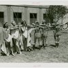 Sports - Archery - Group of women in costumes aiming bows