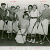 Sports - Archery - Group of women with bows and arrows