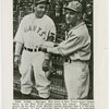 Sports - Baseball - Article on Bill Terry showing Trylon and Perisphere emblem to Casey Stengel
