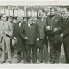 Sports - Baseball - Ruth, Babe - Holding Trylon and Perisphere trophy with Fiorello LaGuardia, Grover Whalen and others