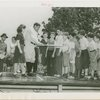 Sports - Baseball - Ruth, Babe - Showing children how to bat