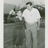 Sports - Baseball - Ruth, Babe - With boy throwing ball