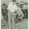 Sports - Baseball - Ruth, Babe - Shaking boys hand