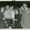 Sports - Boxing - Nancy Carroll, James Braddock, Jack Dempsey, Arlene Judge and Joe Louis