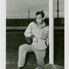 Sports - Football - Man on knee with football