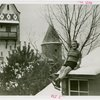 Sports - Ice Skating - Woman in ice skates posed on roof