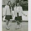 Sports - Ice Skating - Two women on ice skates