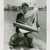 Sports - Miniature Boat Racing - Boy with model sailboat
