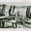Sports - Miniature Boat Racing - Men tuning model boats
