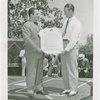 Sports - Whalen, Grover - Holding certificate with Lou Gehrig