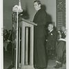 Temple of Religion - Events - Rev. Fulton Sheen giving speech at dedication